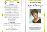 Funeral Program Template Sample Free Loving Memory Templates Pertaining To Remembrance Cards Template Free