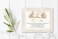 Funeral Thank You Card – Printable Funeral Template | Funeral Printable |  Funeral Acknowledgement Card | Sympathy Card Printed Or Digital throughout Sympathy Card Template