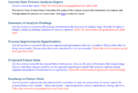 Future State Process Report Template throughout Project Analysis Report Template
