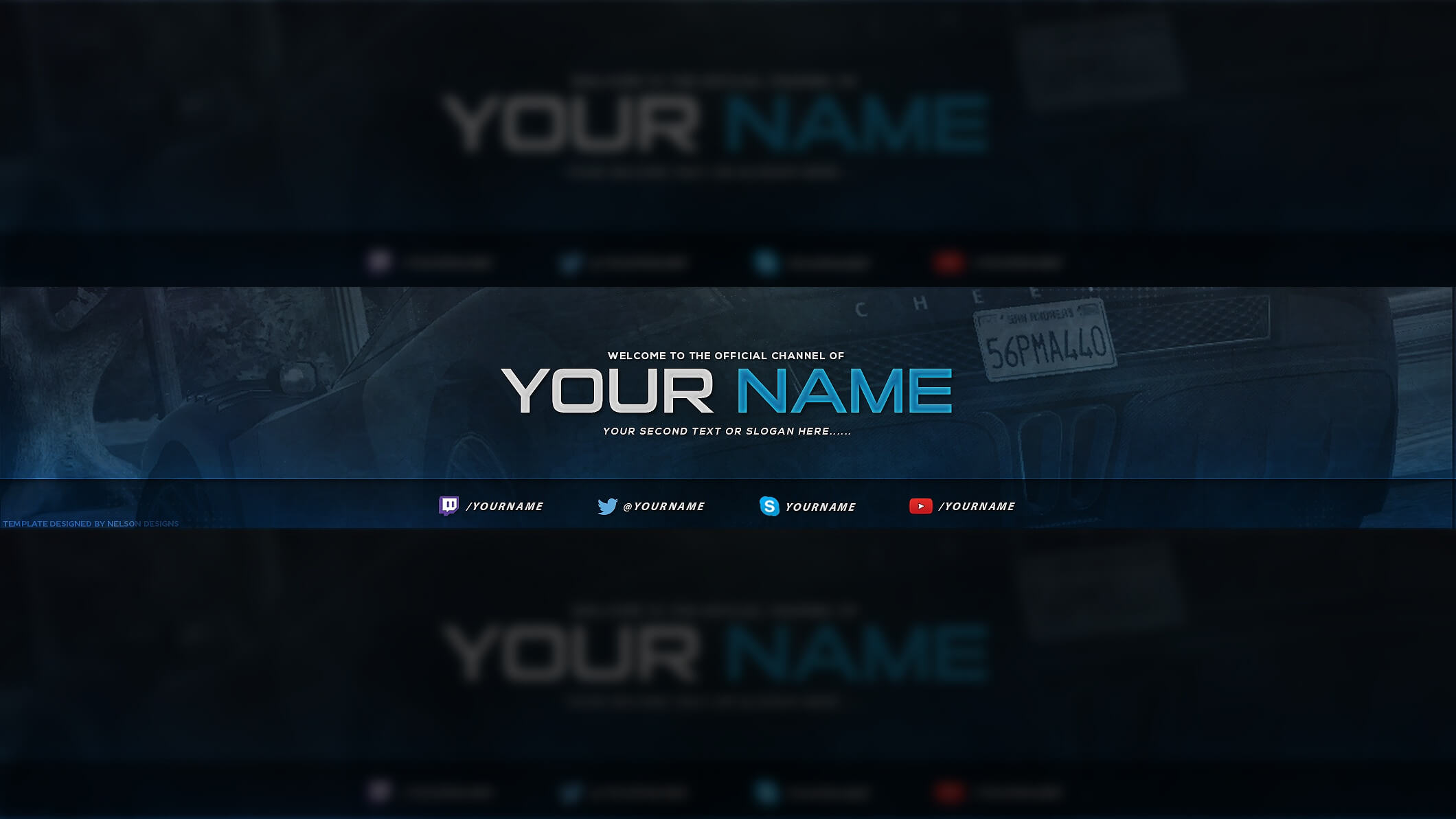 Gaming Youtube Banner Template - Tristan Nelson regarding Yt Banner Template