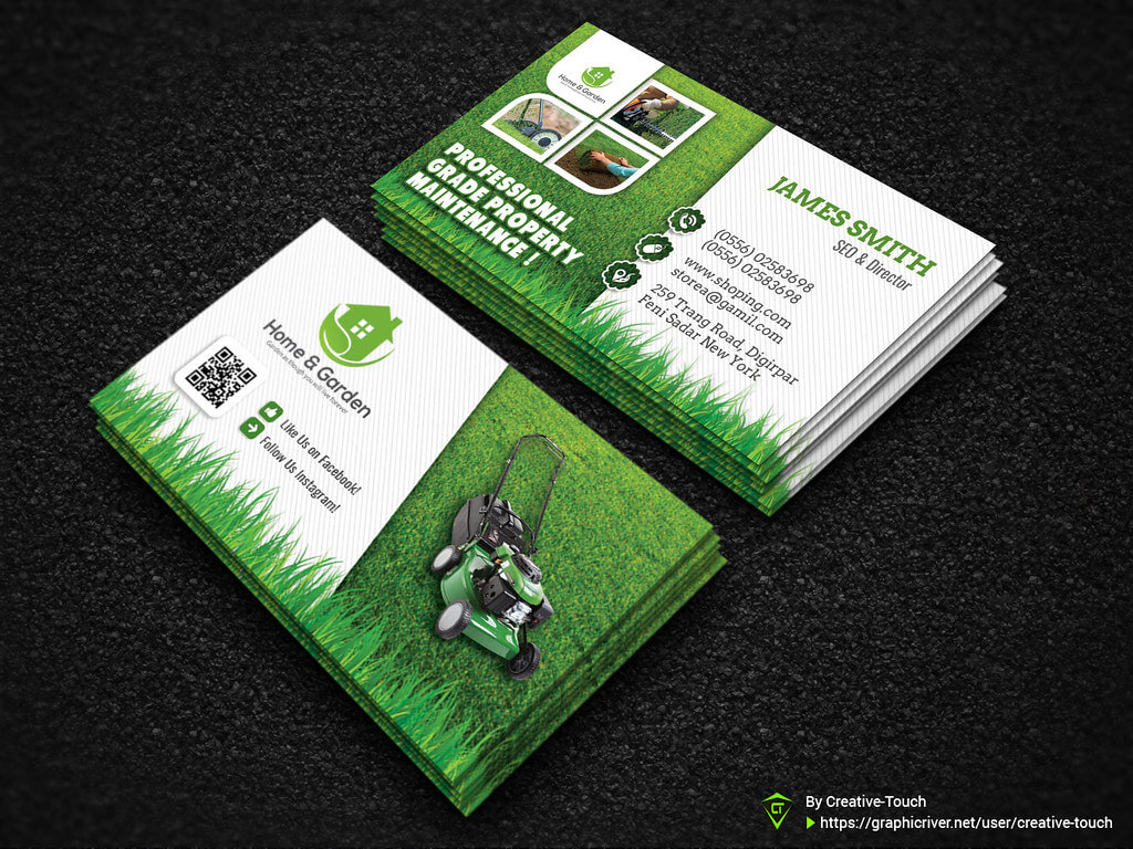 Garden Landscape Business Card Template | Download Here - Gr Inside Gardening Business Cards Templates