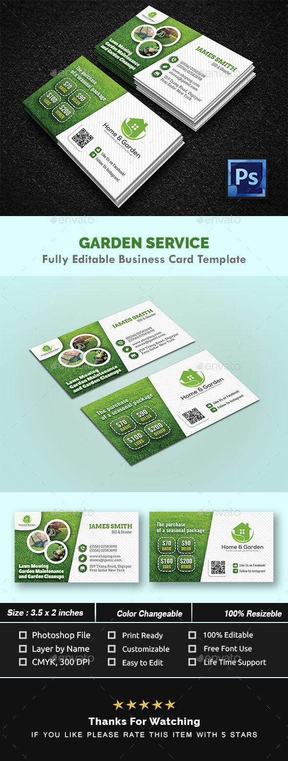 Garden Landscape Business Card Templates - Creative Business throughout Gardening Business Cards Templates