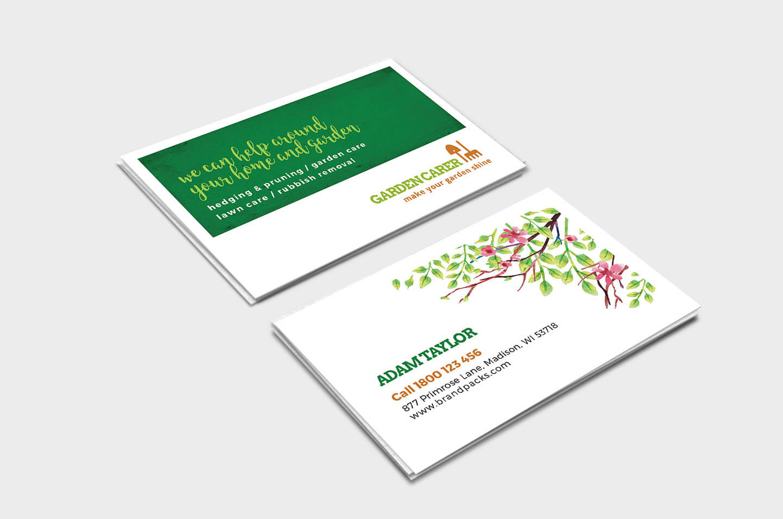 Gardener Business Card Template In Psd, Ai & Vector - Brandpacks inside Gardening Business Cards Templates