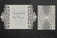 Gate Fold Wedding Invitation , 5X7, Cricut Template, Quinceanera Card –  Svg, Dxf, Cricut, Silhouette Cameo inside Silhouette Cameo Card Templates