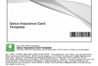 Geico Insurance Card Template Pdf – Fill Online, Printable for Free Fake Auto Insurance Card Template