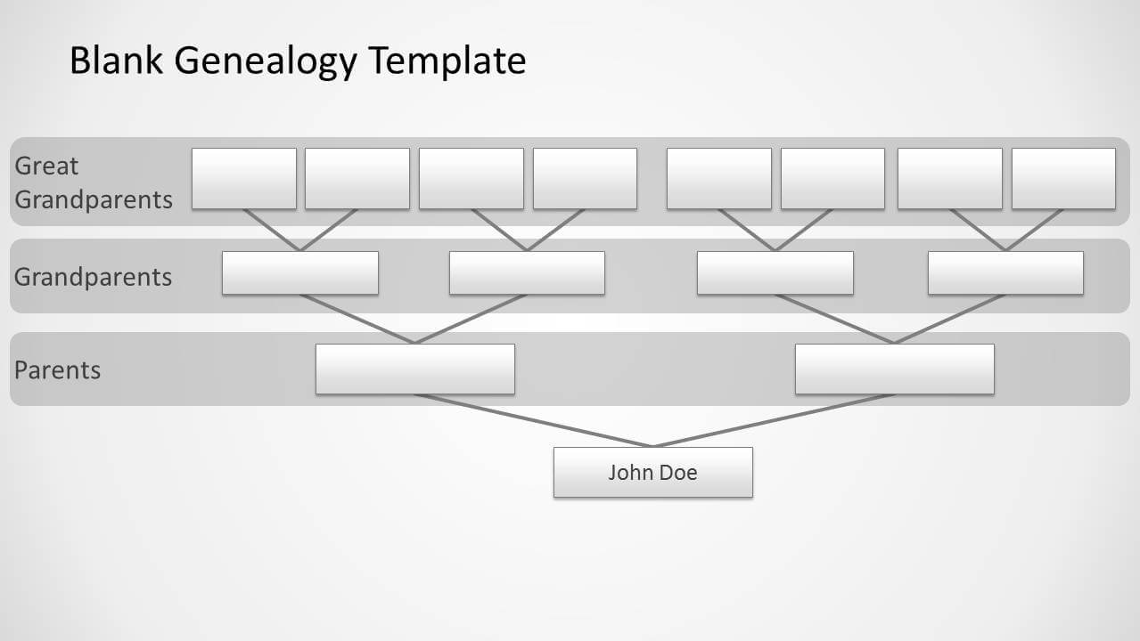 Genealogy Tree Diagram For Powerpoint regarding Powerpoint Genealogy Template