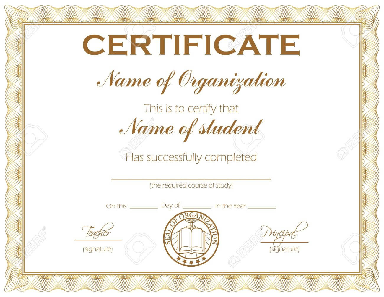 General Purpose Certificate Or Award With Sample Text That Can.. With Template For Certificate Of Award