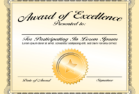 Generic Award Certificate In Vector Format – Trashedgraphics pertaining to Generic Certificate Template