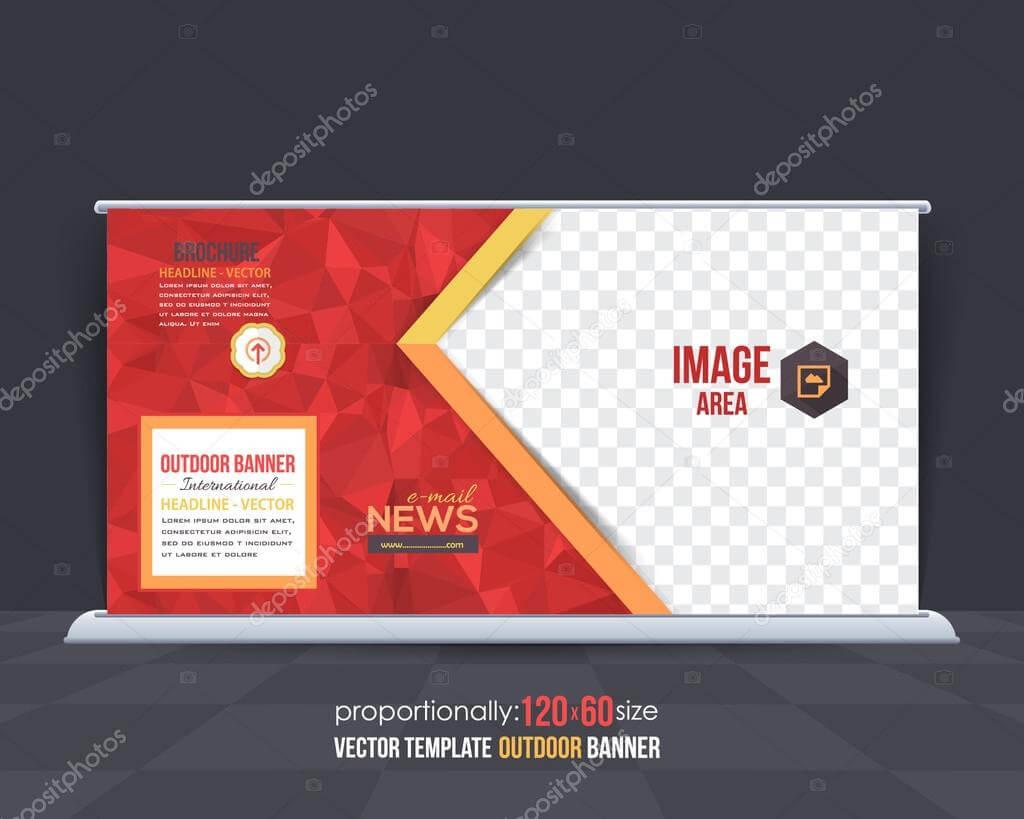 Geometric Elements Outdoor Advertising Design, Horizontal inside Outdoor Banner Design Templates