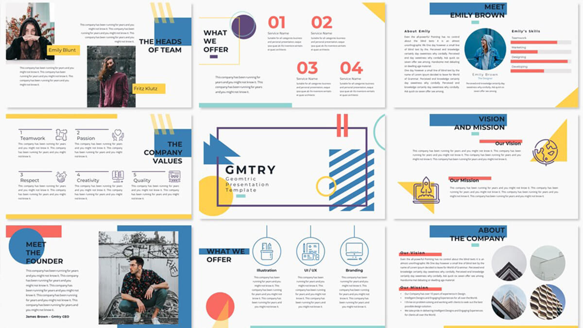 Geometric Free Powerpoint Template - Creative Presentation intended for Fun Powerpoint Templates Free Download
