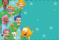 Get Free Printable Bubble Guppies Baby Shower Invitation within Bubble Guppies Birthday Banner Template