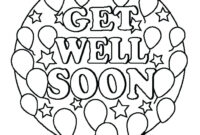 Get Well Soon Cards Coloring Printable – Champprint.co intended for Get Well Soon Card Template