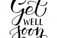 Get Well Soon Typography Cardalps View Art On in Get Well Card Template