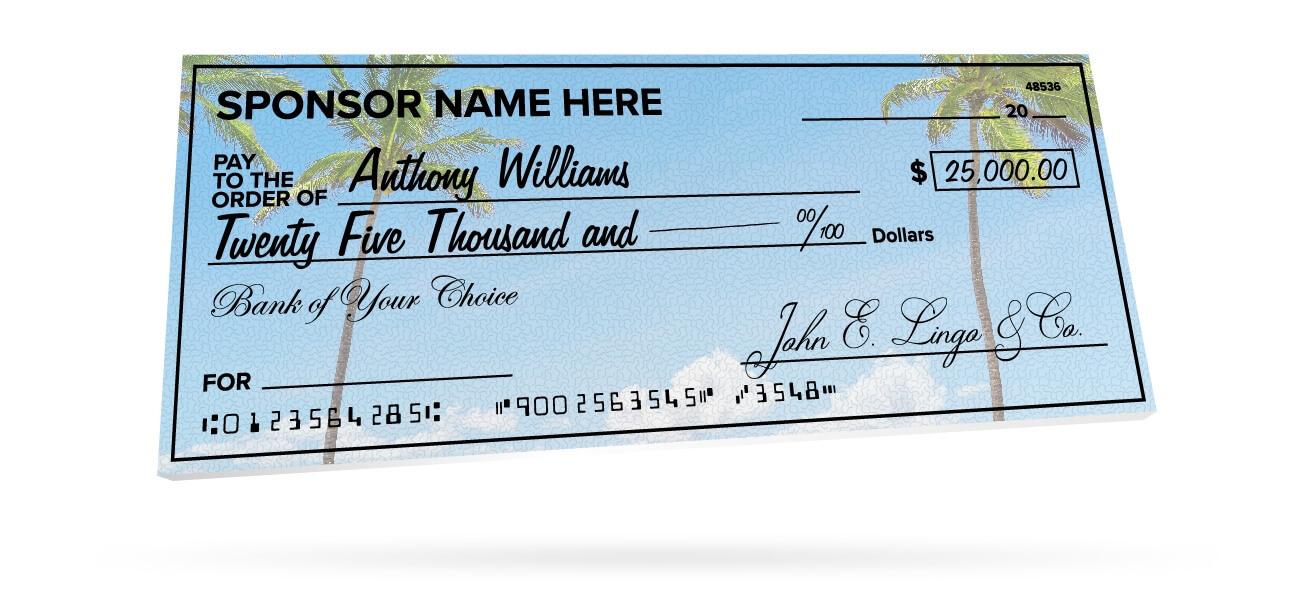 Giant Checks pertaining to Customizable Blank Check Template