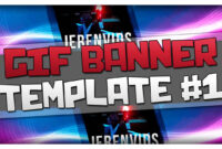 Gif Banner Template #1 (Minecraft Style Animated Banner For Photoshop Cs6  Download) within Animated Banner Templates