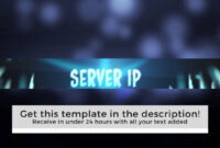 """Gif Banner Template """"frozen"""" Animated Minecraft Banner intended for Minecraft Server Banner Template"""