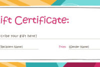 Gift Card Certificate Template | Certificatetemplategift for Fillable Gift Certificate Template Free