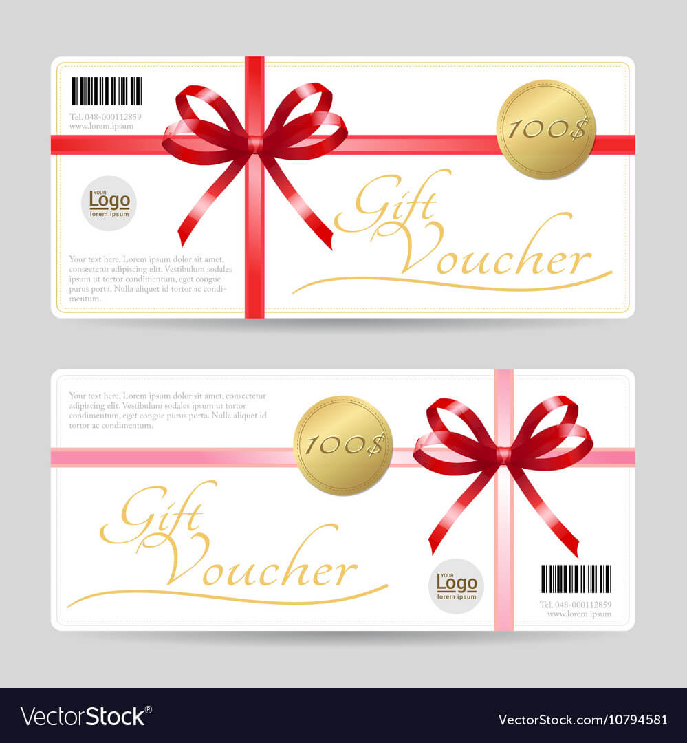 Gift Card Or Gift Voucher Template inside Gift Card Template Illustrator