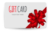Gift Card Template With Bow And Ribbon Vector Image On Vectorstock pertaining to Present Card Template