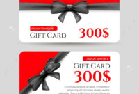 Gift Card With Golden Element And Bow. Gift Card Template Design regarding Present Card Template