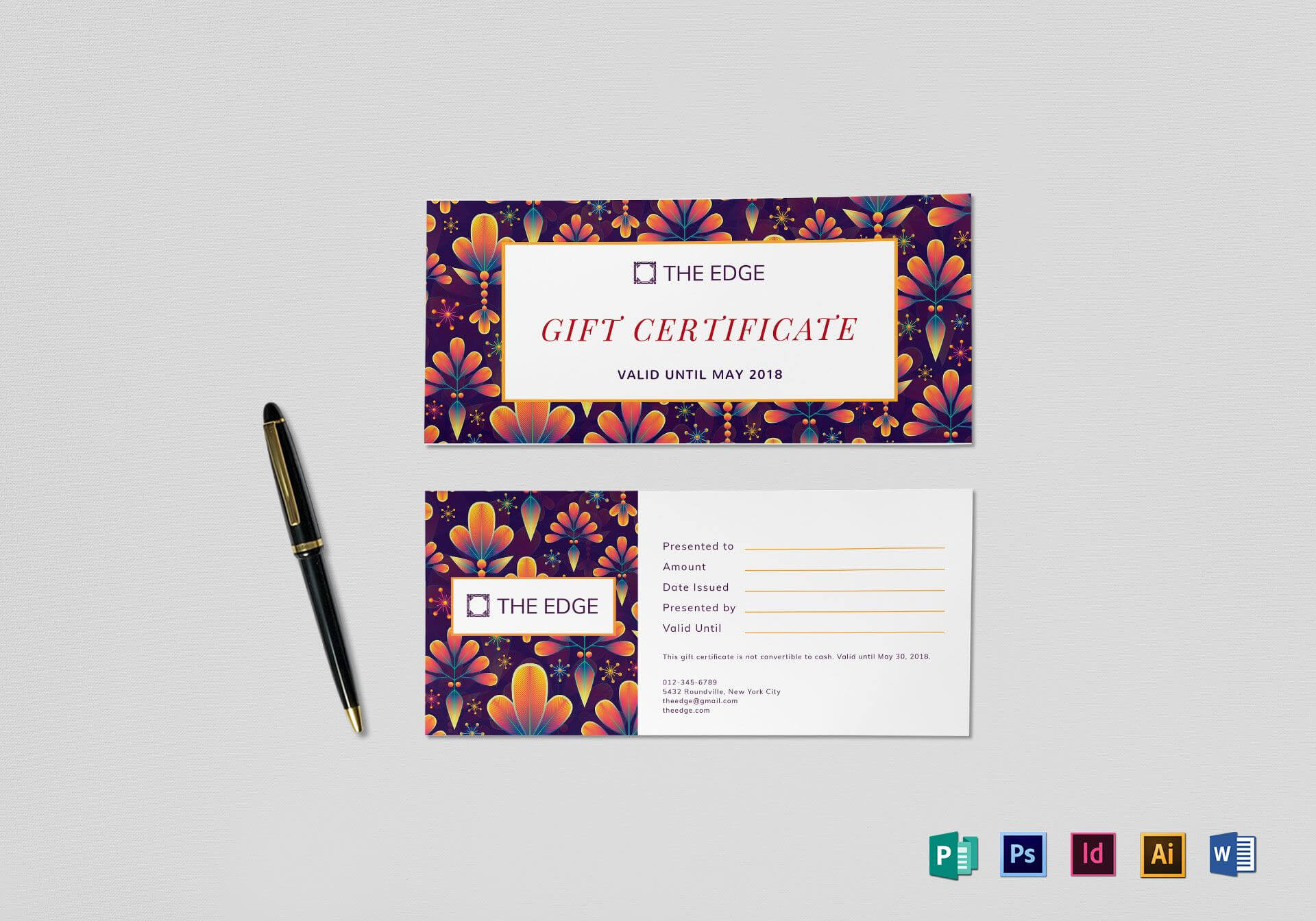 Gift Certificate Template Inside Indesign Gift Certificate Template