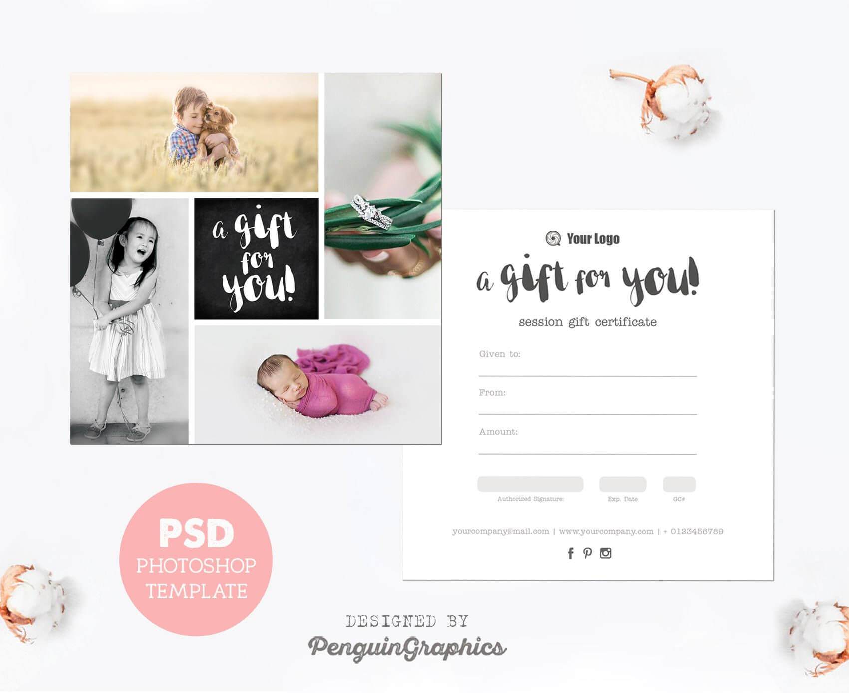 Gift Certificate Template. Photography Mini Session Gift throughout Free Photography Gift Certificate Template
