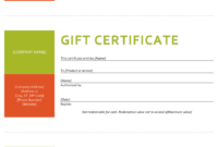 Gift Certificate Template – Sample Gift Certificate pertaining to Company Gift Certificate Template
