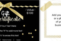 Gift Certificate Template With Logo in Nail Gift Certificate Template Free