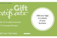 Gift Certificate Template With Logo regarding Company Gift Certificate Template
