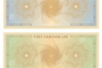 Gift Certificate (Voucher) Template With Borders Stock with This Certificate Entitles The Bearer Template
