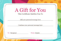 Gift Certificate Within Present Certificate Templates inside Present Certificate Templates