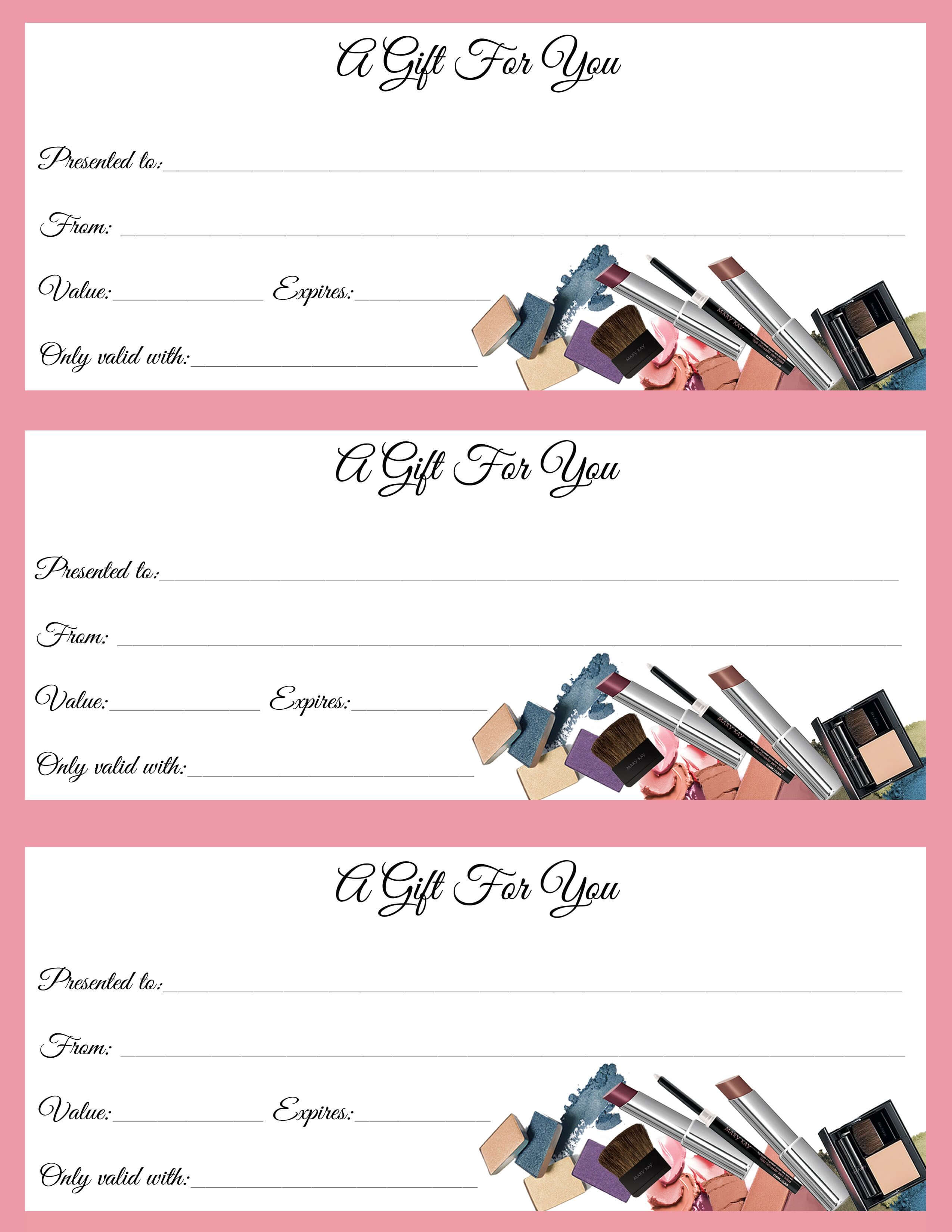 Gift Certificates Just In Time For Call Or Text To Order Jen with Mary Kay Gift Certificate Template