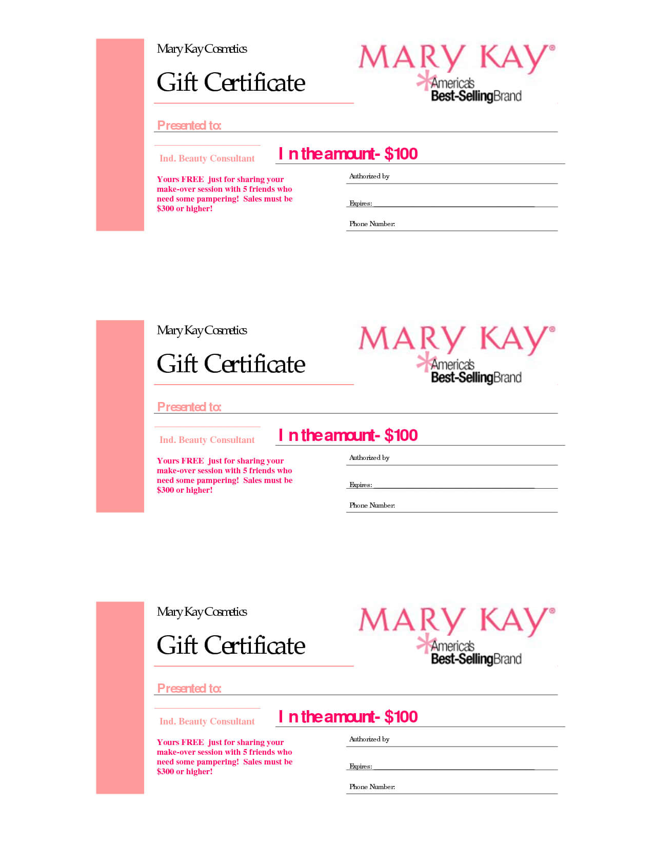 Gift Certificates | Mary Kay Gift Certificate! In 2019 In Mary Kay Gift Certificate Template