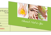Gift Certificates Printing For Nail Salon in Nail Gift Certificate Template Free
