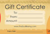 Gift Certificates with regard to Restaurant Gift Certificate Template
