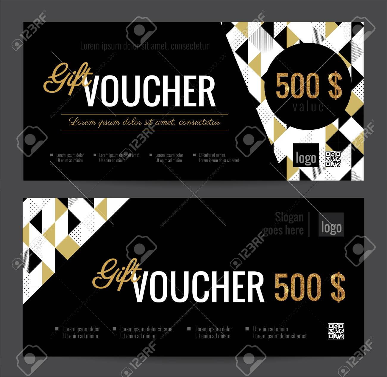 Gift Voucher Coupon Discount. Elegant Gift Certificate Template.. With Regard To Black And White Gift Certificate Template Free