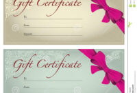 Gift Voucher Stock Illustration. Illustration Of Business regarding Free Photography Gift Certificate Template