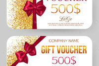 Gift Voucher Template. Golden Design For Gift Certificate Coupon for Magazine Subscription Gift Certificate Template