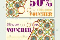 Gift Voucher Template Mandala Design Certificate Stock inside Magazine Subscription Gift Certificate Template