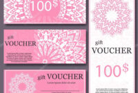 Gift Voucher Template With Mandala. Design Certificate For in Magazine Subscription Gift Certificate Template