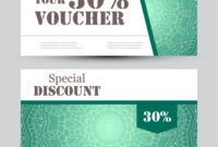 Gift Voucher Template With Mandala Design pertaining to Magazine Subscription Gift Certificate Template
