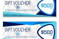 Gift Voucher. Vector, Illustration. Coupon And Voucher Template.. for Company Gift Certificate Template