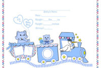 Girl Birth Certificate Template – Atlantaauctionco with Girl Birth Certificate Template