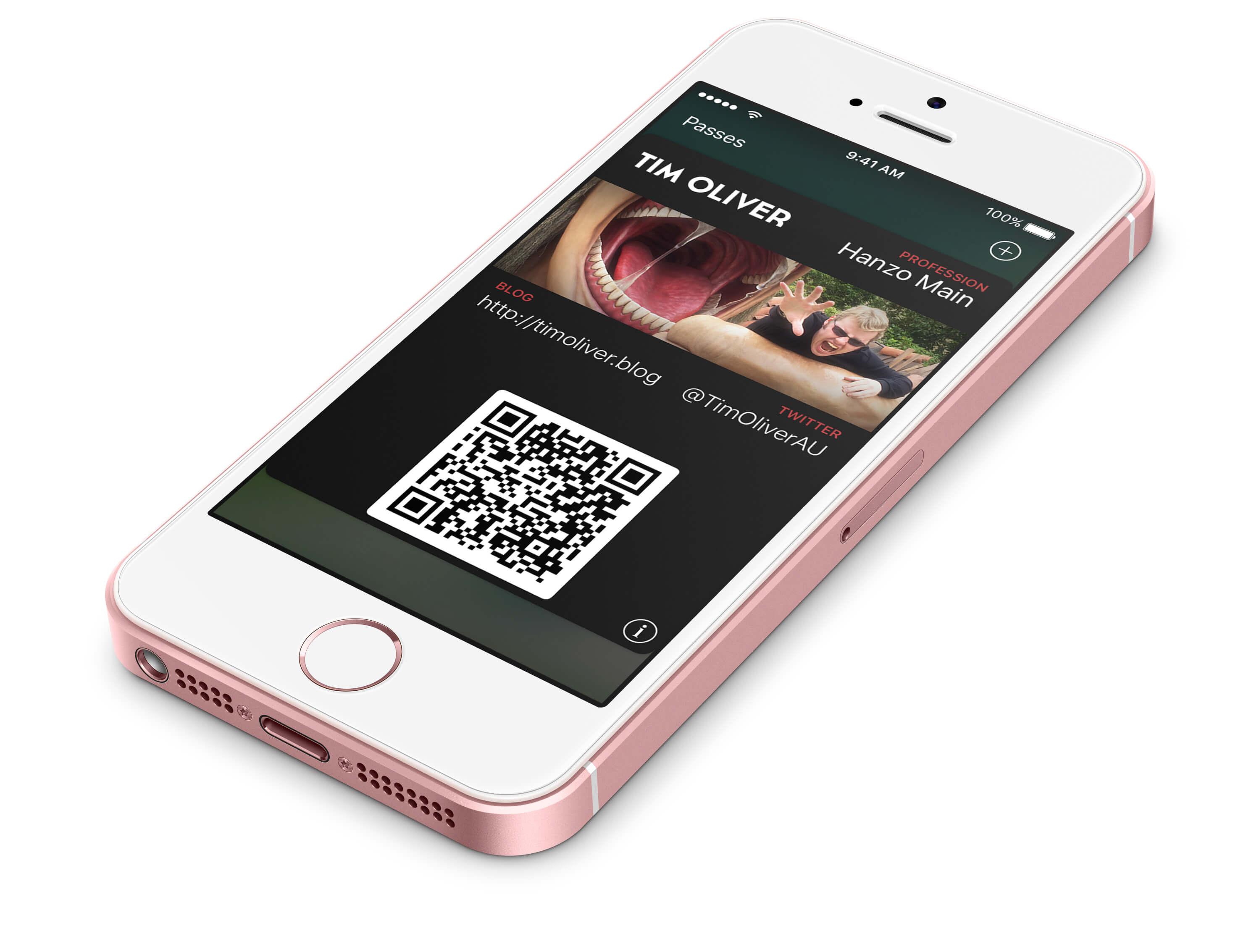 Github - Timoliver/passkit-Business-Card: A Template For Ios within Iphone Business Card Template