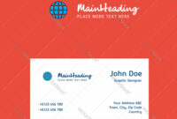 Globe Logo Design With Business Card Template Vector Image On Vectorstock with regard to Adobe Illustrator Business Card Template
