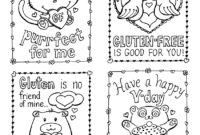 Gluten-Free Valentine's Day Cards, Plus A Mini Kid-Size pertaining to Valentine Card Template For Kids