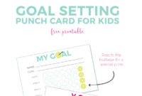 Goal Setting For Kids + Free Printable Punch Cards within Free Printable Punch Card Template