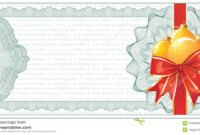 Golden Christmas Gift Certificate Or Discount Stock Vector throughout Christmas Gift Certificate Template Free Download
