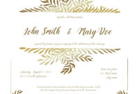 Golden Wedding Invitation Card Template throughout Sample Wedding Invitation Cards Templates
