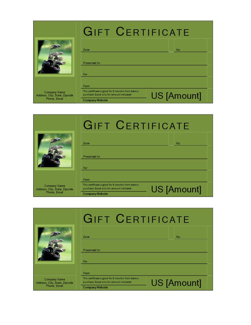 Golf Gift Voucher | Templates At Allbusinesstemplates Intended For Golf Gift Certificate Template